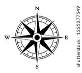 compass wind rose in vintage... | Shutterstock .eps vector #1335377549