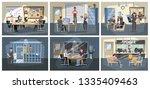 police station building... | Shutterstock .eps vector #1335409463