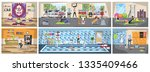 gym building interior. athletic ... | Shutterstock .eps vector #1335409466
