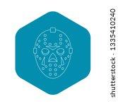 goalkeeper mask icon. outline...   Shutterstock .eps vector #1335410240