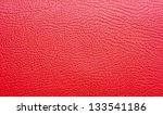 Vivid Red Leather Background