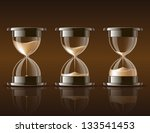 sand falling in the hourglass...   Shutterstock .eps vector #133541453