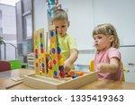 montessori concept in... | Shutterstock . vector #1335419363