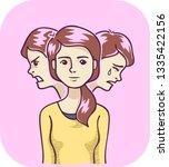 illustration of a girl that... | Shutterstock .eps vector #1335422156