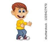funny boy   children cartoon  | Shutterstock . vector #1335427970