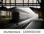 old railway station indoor view ... | Shutterstock . vector #1335432140