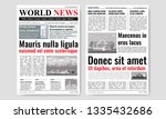newspaper template design with... | Shutterstock .eps vector #1335432686