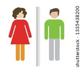 man and woman icon. bathroom ... | Shutterstock .eps vector #1335438200