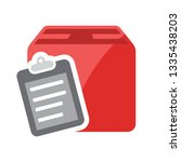 box listed icon. clipboard with ... | Shutterstock .eps vector #1335438203