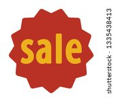 label sale icon. sale discount... | Shutterstock .eps vector #1335438413