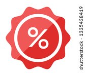 label percent icon. sale... | Shutterstock .eps vector #1335438419