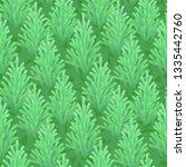 green fir wood seamless | Shutterstock . vector #1335442760