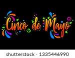 cinco de maya vector isolated... | Shutterstock .eps vector #1335446990