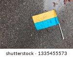 dirty yellow blue ukrainian... | Shutterstock . vector #1335455573
