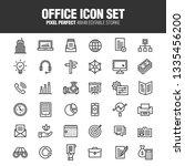 office icon set. editable... | Shutterstock .eps vector #1335456200