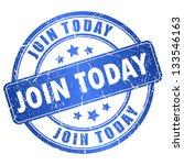 join today vector stamp | Shutterstock .eps vector #133546163