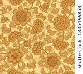 abstract beige floral seamless... | Shutterstock . vector #1335466853