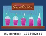 purple natural fruit smoothies... | Shutterstock . vector #1335482666