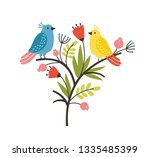 seasonal composition with pair... | Shutterstock .eps vector #1335485399