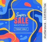 sale banner with abstract...   Shutterstock .eps vector #1335502766