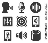 voice smart devices with sound...   Shutterstock . vector #1335512063