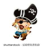 cartoon scene with pirate man... | Shutterstock . vector #1335515510