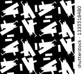 abstract vector monochrome... | Shutterstock .eps vector #1335518480