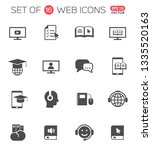 e learning vector icons for web ... | Shutterstock .eps vector #1335520163