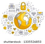 global communication concept ... | Shutterstock .eps vector #1335526853