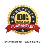money back guaranteed label...