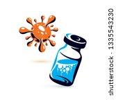 vector medical vial...   Shutterstock .eps vector #1335543230
