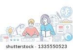 tutor   modern line design... | Shutterstock . vector #1335550523