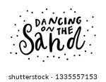 beach unique hand drawn... | Shutterstock .eps vector #1335557153