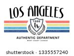 los angeles slogan graphic  for ... | Shutterstock .eps vector #1335557240