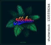 aloha illustration with... | Shutterstock .eps vector #1335558266