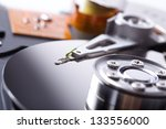 opened hard disk drive | Shutterstock . vector #133556000