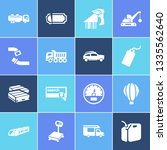 vehicle icon set and tank truck ...