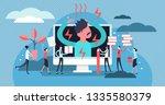 stress vector illustration.... | Shutterstock .eps vector #1335580379