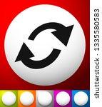 swap  flip icon. circular  oval ... | Shutterstock .eps vector #1335580583
