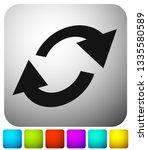 swap  flip icon. circular  oval ... | Shutterstock .eps vector #1335580589