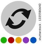 swap  flip icon. circular  oval ... | Shutterstock .eps vector #1335580640