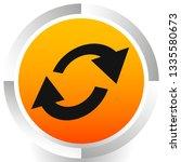 swap  flip icon. circular  oval ... | Shutterstock .eps vector #1335580673