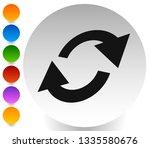 swap  flip icon. circular  oval ... | Shutterstock .eps vector #1335580676