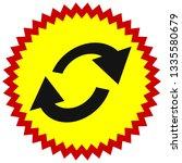 swap  flip icon. circular  oval ... | Shutterstock .eps vector #1335580679