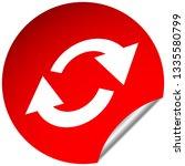 swap  flip icon. circular  oval ... | Shutterstock .eps vector #1335580799