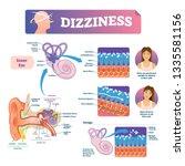 dizziness vector illustration.... | Shutterstock .eps vector #1335581156