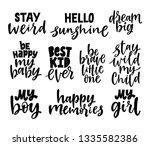 Set Of Nursery Quotes. Hand...