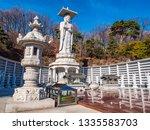 beautiful buddhism statue in... | Shutterstock . vector #1335583703