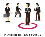 businessman within his comfort... | Shutterstock .eps vector #1335584573