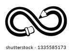 long wooden pen tip picture on...   Shutterstock .eps vector #1335585173